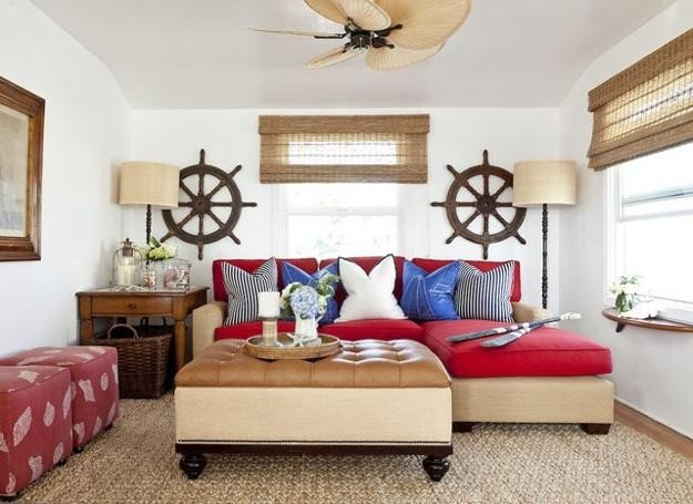 Nautical Decor Ideas Living Room Beautiful Nautical Decor Ideas Enhanced by Vintage Ship Wheels and