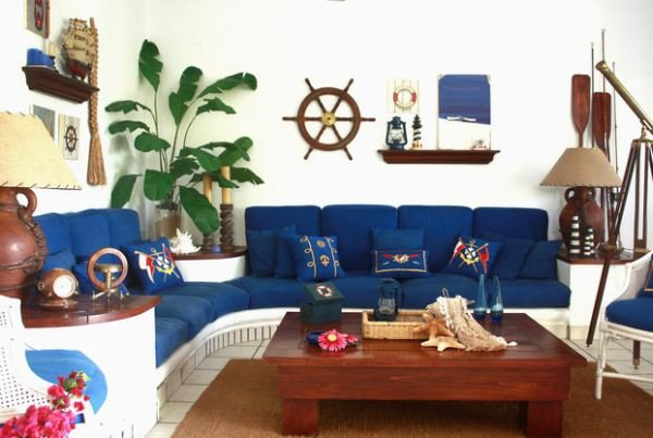 Nautical Decor Ideas Living Room Unique Nautical Decor Ideas From Ship Wheels to Starfish