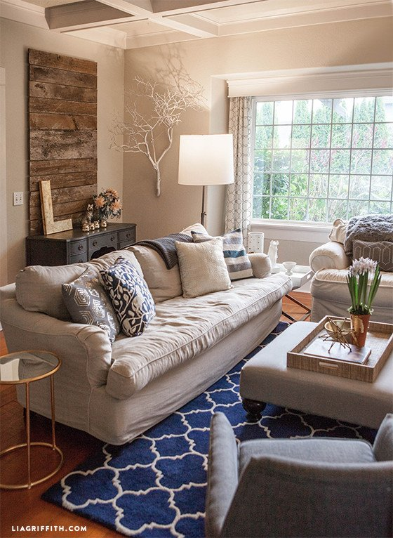 Navy Blue Living Room Decor Awesome My Home tour My Living Room In Navy and Gold Lia Griffith