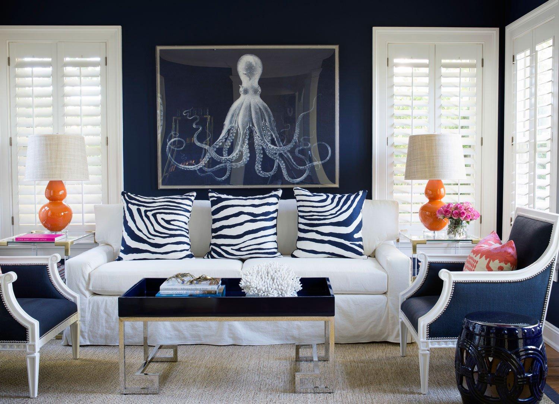 Navy Blue Living Room Decor Elegant Navy Blue Living Room Ideas – Adorable Home
