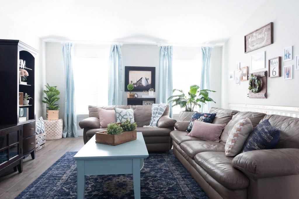 Navy Blue Living Room Decor Elegant Pink Navy Blue and Jade Family Room Decor Reveal Jo's House