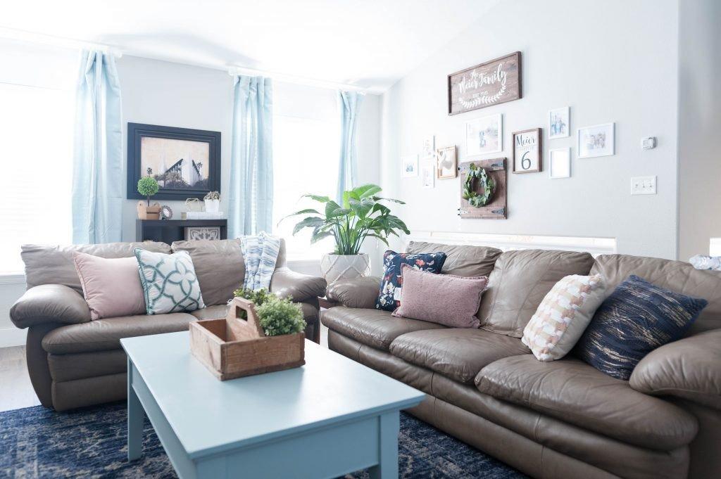 Navy Blue Living Room Decor Fresh Pink Navy Blue and Jade Family Room Decor Reveal Jo's House