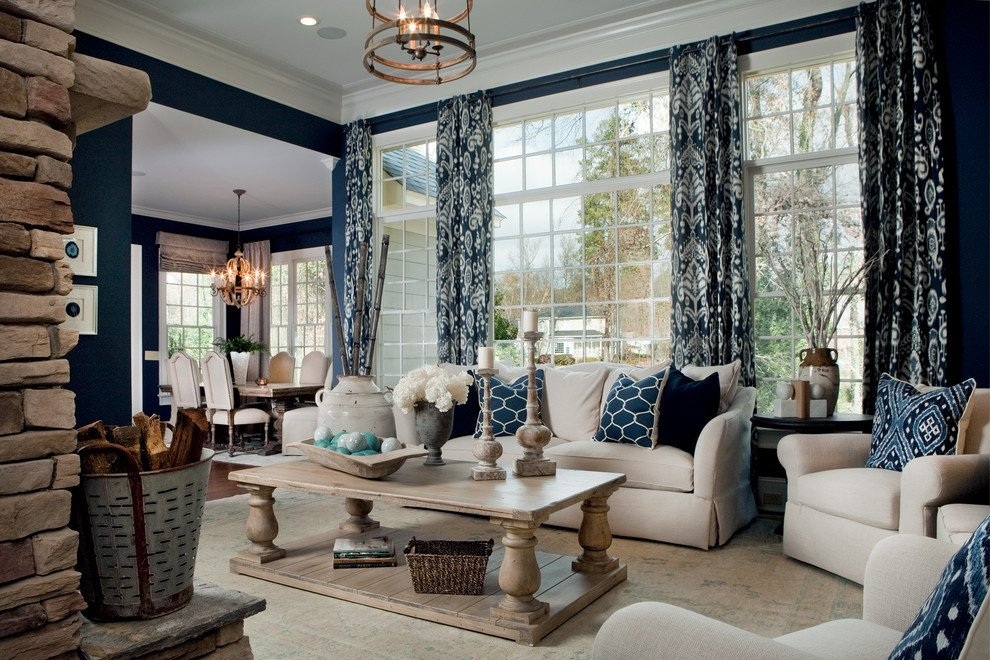Navy Blue Living Room Decor Luxury Staggering Navy Curtains Decorating Ideas for Living Room
