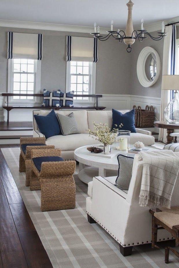 Navy Blue Living Room Decor New Pretty Grey Navy Nautical themed Room so Pretty