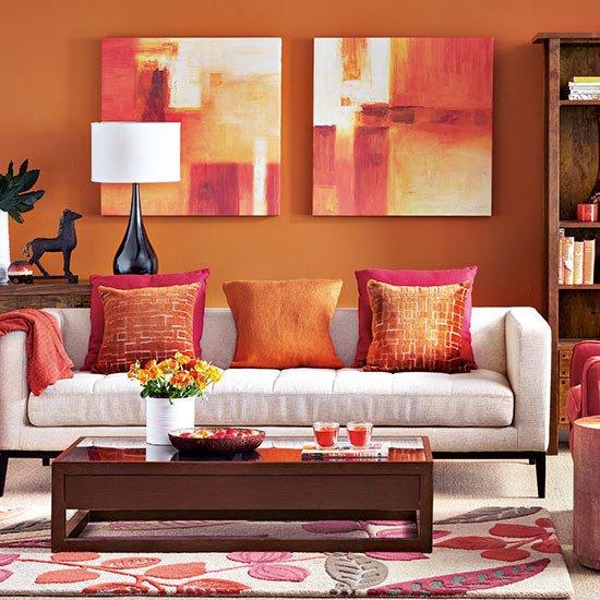 Orange Decor for Living Room Fresh Modern orange Living Room Decorating
