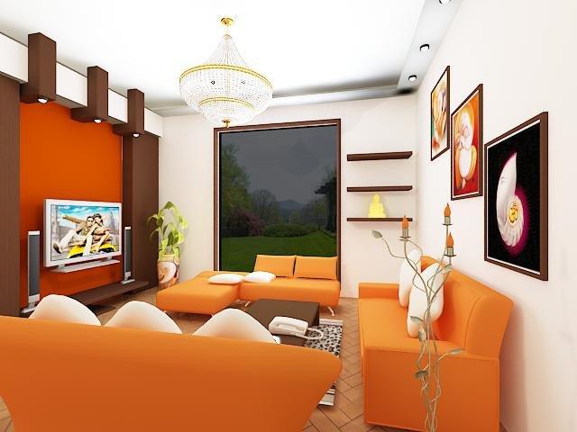 Orange Decor for Living Room Luxury Oustanding Living Room Designs with orange Motifs