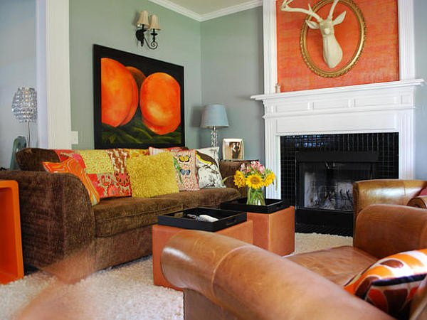 Orange Decor for Living Room New Decorating with orange How to Incorporate A Risky Color