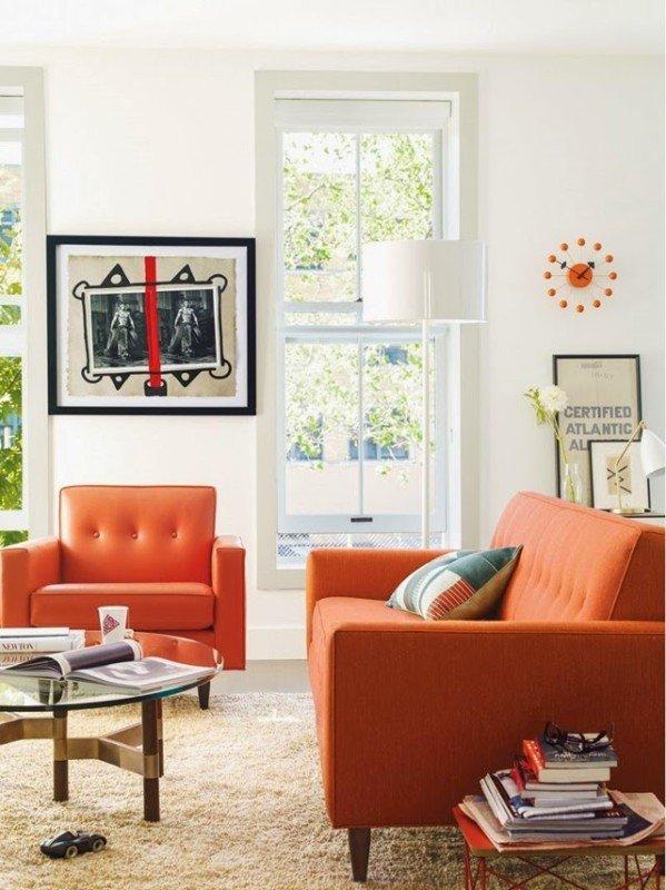 Orange Decor for Living Room Unique Living Room with An orange sofa Daily Dream Decor