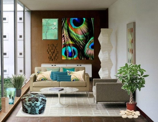 Peacock Decor for Living Room Beautiful Eye for Design Decorate Your Home with the Color Peacock Blue