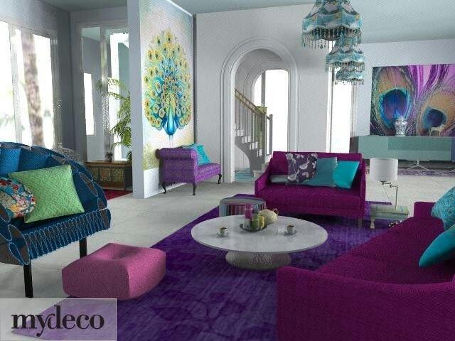 Peacock Decor for Living Room Elegant Peacock Colored Living Room Decor