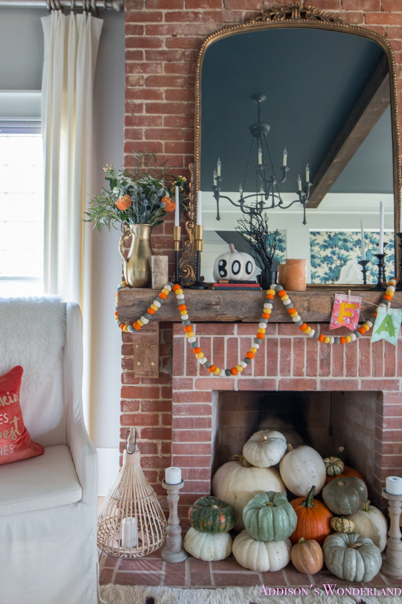 Pictures for Living Room Decor Awesome Our Fall & Halloween Living Room Decor W Mantle Ideas