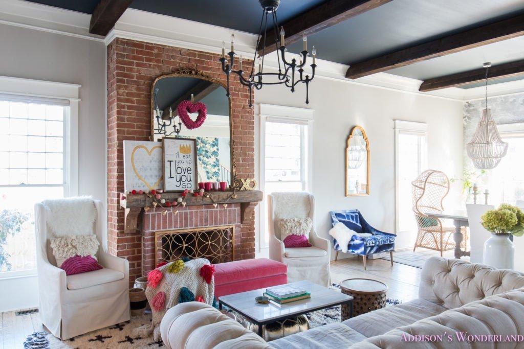 Pictures for Living Room Decor Elegant Our Colorful Whimsical & Elegant Valentine S Day Living
