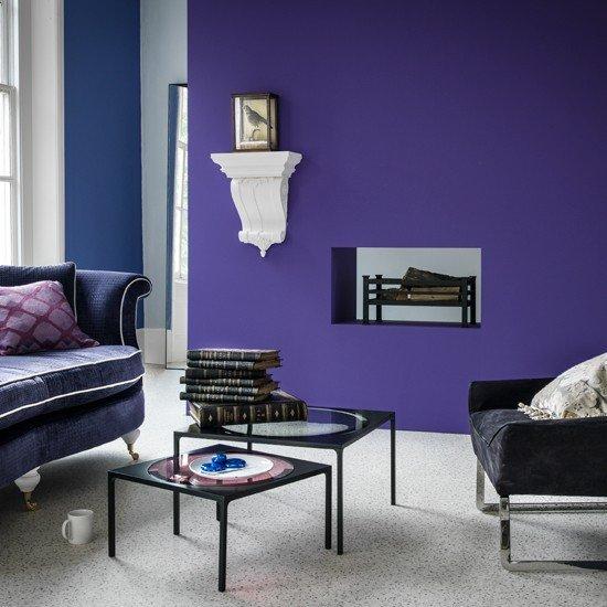 Purple Decor for Living Room Beautiful Purple Modern Living Room