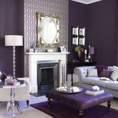 Purple Decor for Living Room Elegant Purple Living Room Design