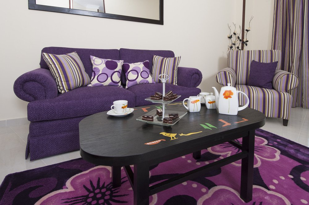 Purple Decor for Living Room Fresh Design with Purple