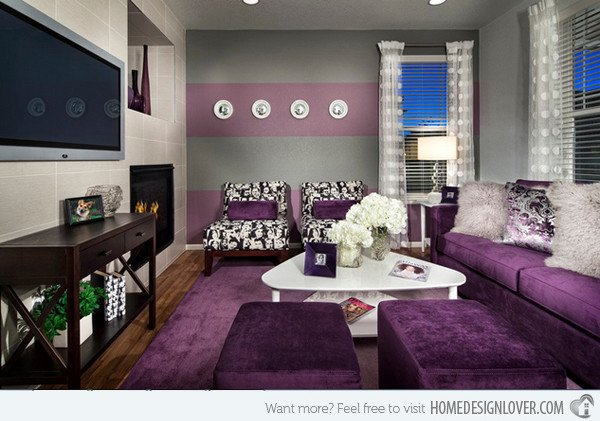 Purple Decor for Living Room Lovely 15 Catchy Living Room Designs with Purple Accent Living
