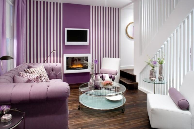 Purple Decor for Living Room Unique 20 Dazzling Purple Living Room Designs Rilane