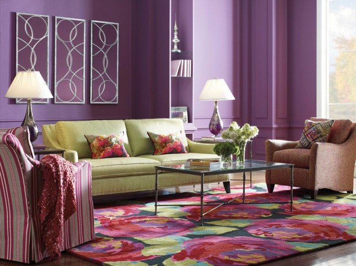 18 Purple Living Room Designs Ideas