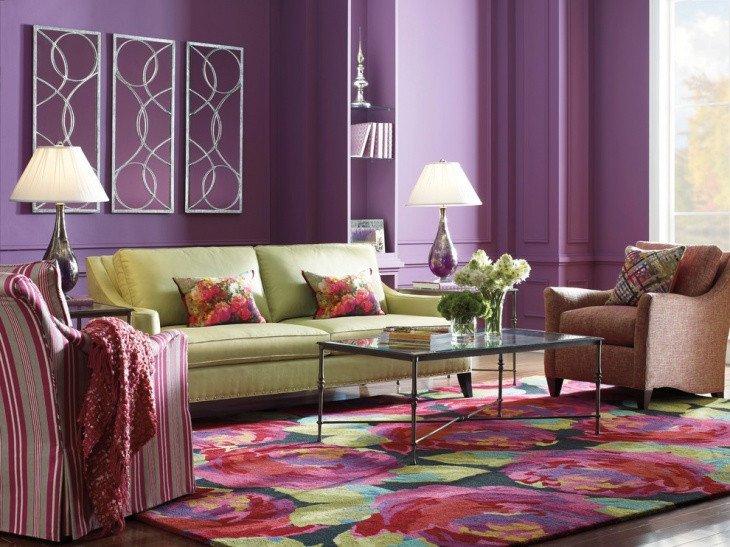 18 Purple Living Room Designs Ideas