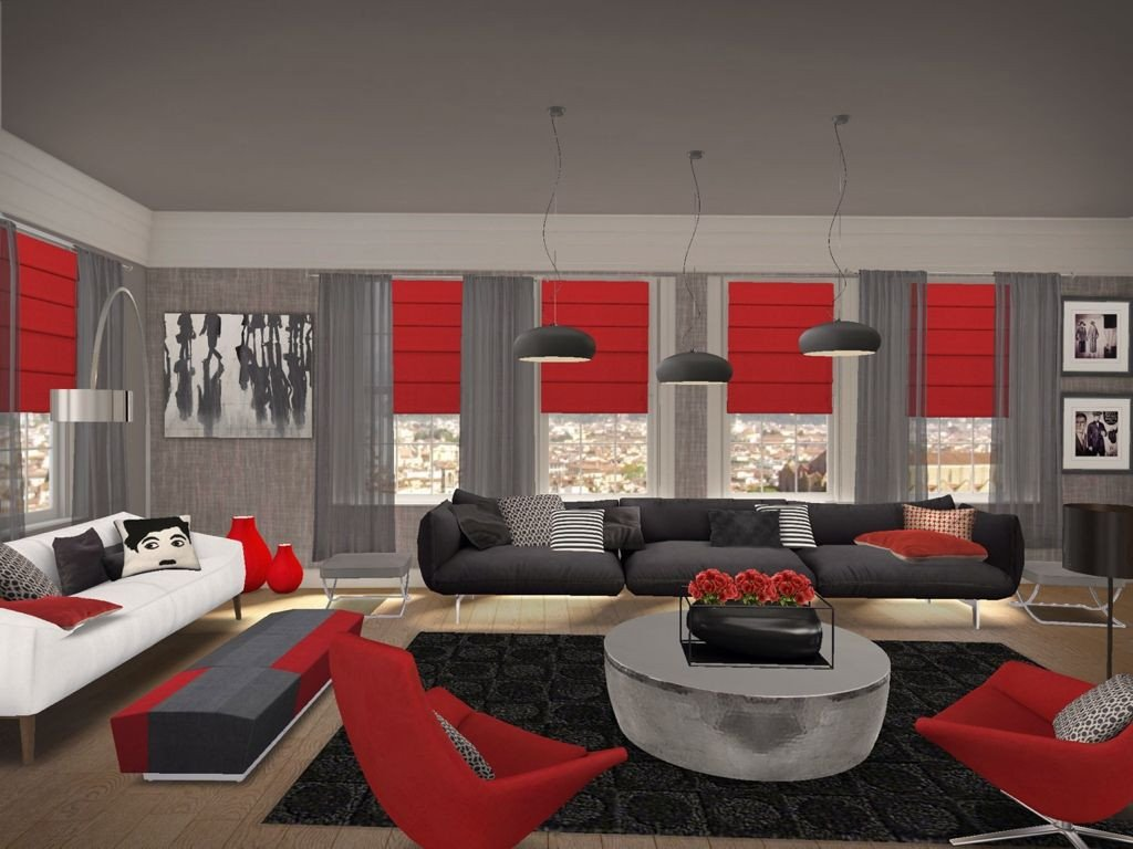 Red Decor for Living Room Best Of Living Rooms Black Red Google Search