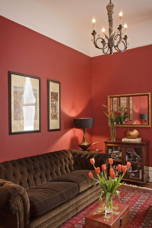 Red Decor for Living Room Inspirational Red Study Traditional Living Room
