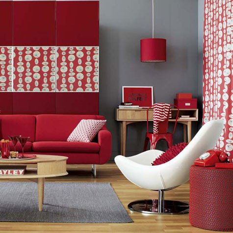 Red Decor for Living Room New A Red Room Decorating with the Color Red