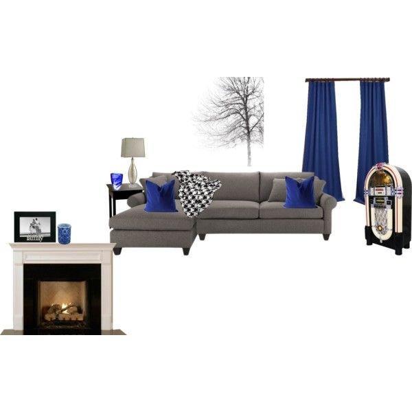 Royal Blue Living Room Decor Awesome Royal Blue Grey and Black Living Room