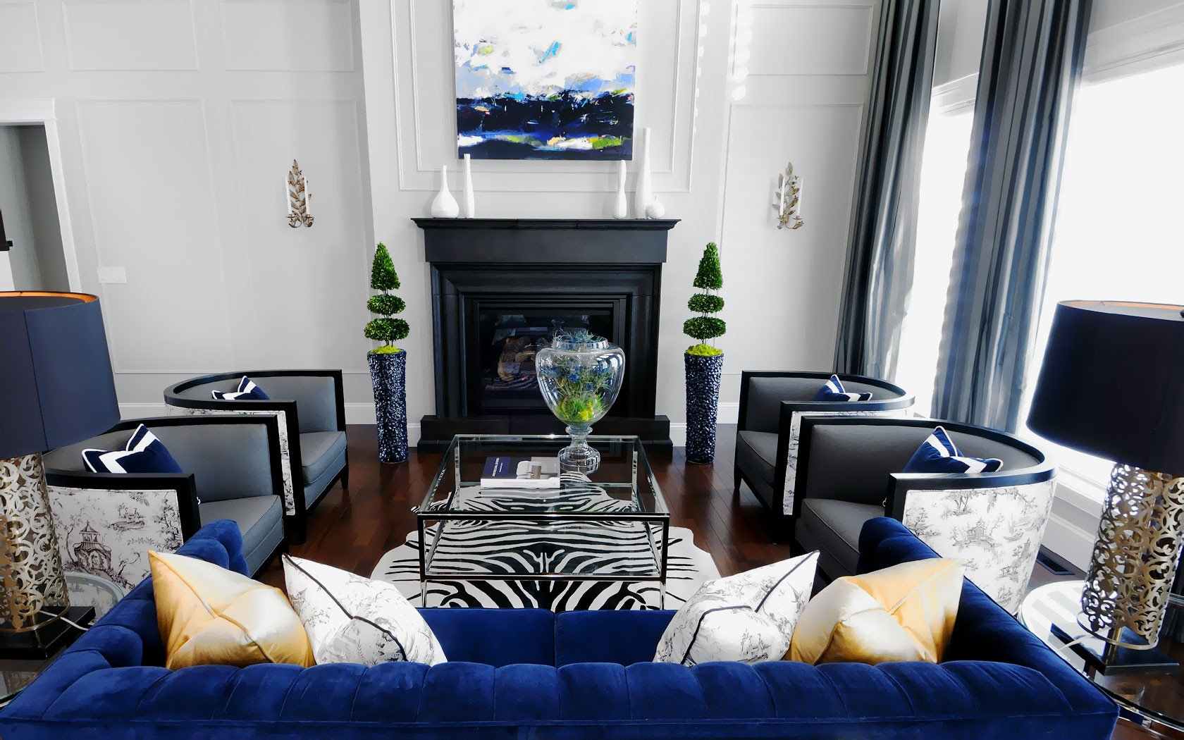 Royal Blue Living Room Decor Beautiful 20 Of the Best Colors to Pair with Black or White