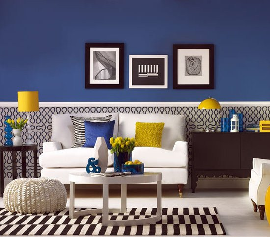 Royal Blue Living Room Decor Fresh Have Fun with Blue and Yellow Rooms