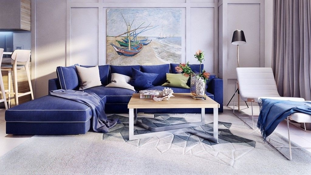 Royal Blue Living Room Decor Lovely Stunning and Beautiful Modern Apartment Design Royal Blue