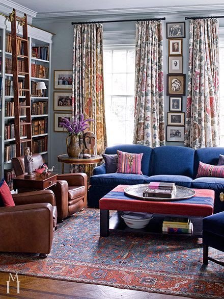 Royal Blue Living Room Decor Luxury Room Of the Day Royal Blue sofa and Like the Vertical