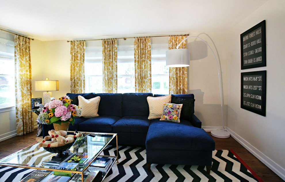 Royal Blue Living Room Decor New 20 Blue and Brown Living Room Designs Decorating Ideas