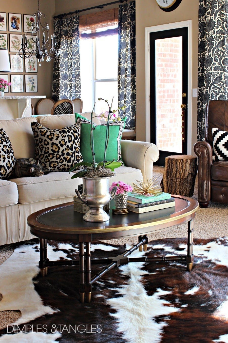 Rug for Living Room Ideas Inspirational My thoughts On Cowhide Rugs Dimples and Tangles