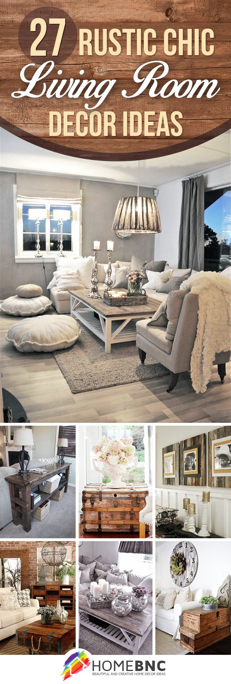 Rustic Living Room Decor Ideas New 27 Best Rustic Chic Living Room Ideas and Designs for 2019