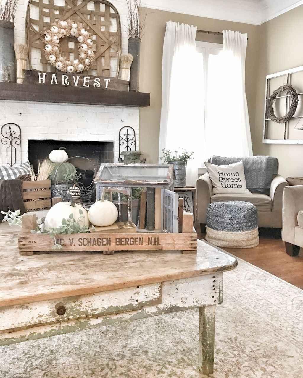 Rustic Living Room Decor Ideas Unique 60 Rustic Farmhouse Living Room Design and Decor Ideas
