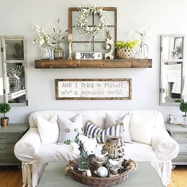 Rustic Living Room Wall Decor Awesome Rustic Wall Decor Idea Featuring Reclaimed Window Frames