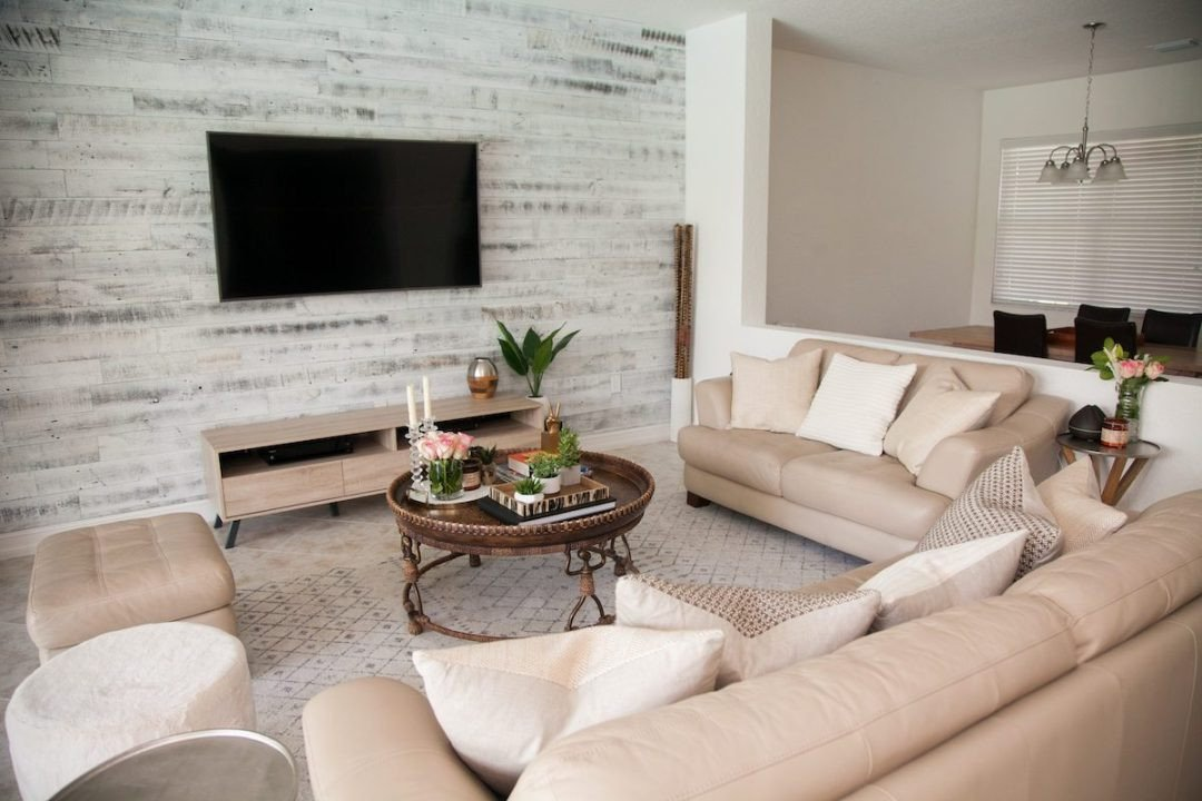 Rustic Living Room Wall Decor Fresh Transitional Living Room Stikwood Accent Wall