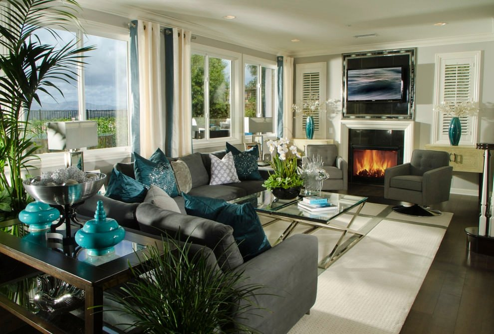 22 Teal Living Room Designs Decorating Ideas