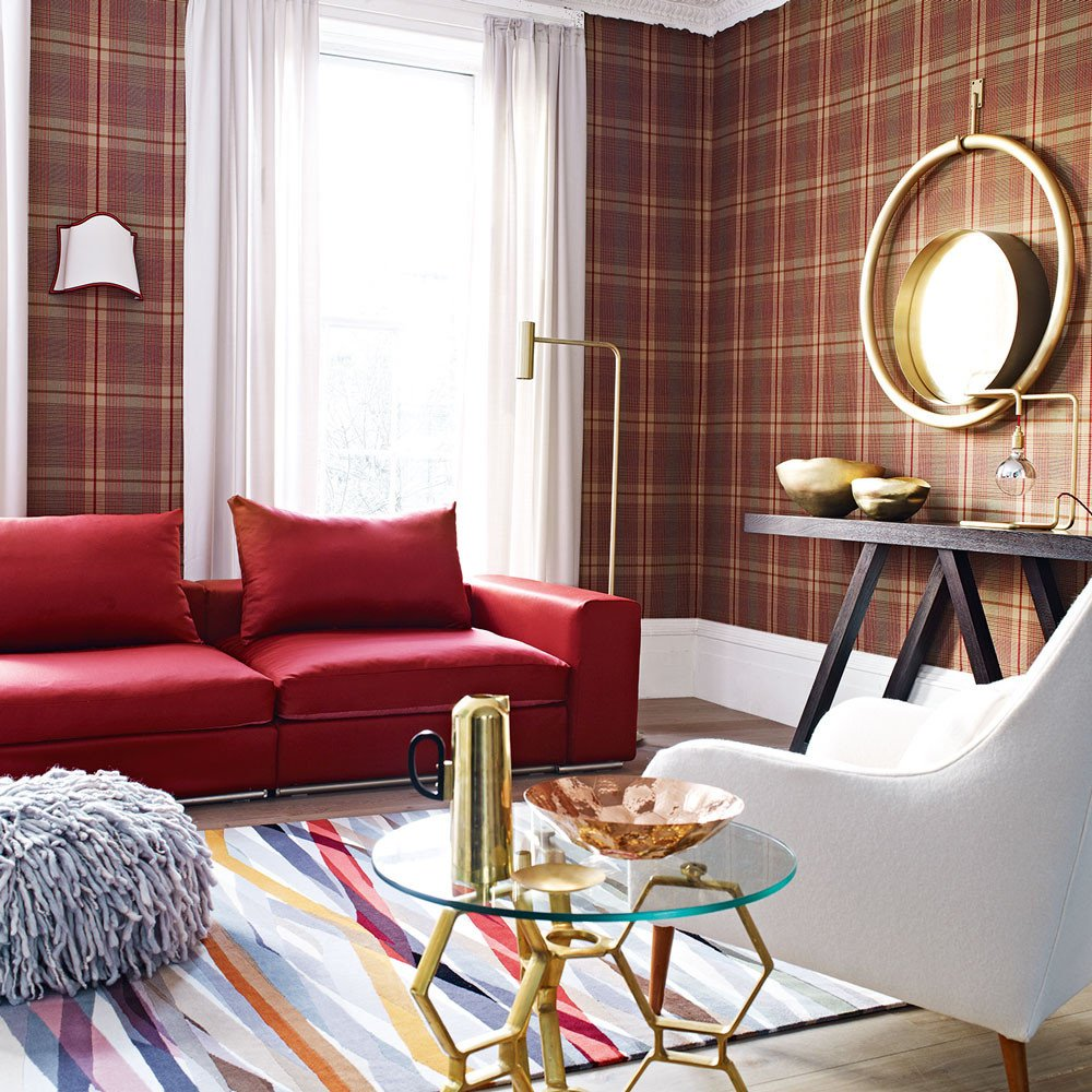 Wallpaper for Living Room Ideas Awesome Tartan Decorating Ideas