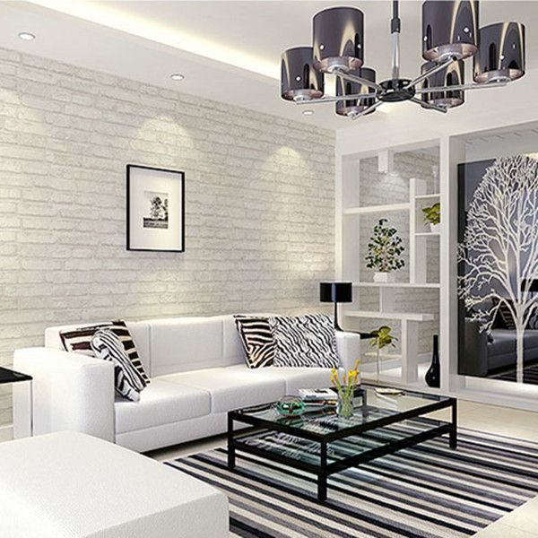 Wallpaper for Living Room Ideas New White Grey Real Looking Brick Pattern Wallpaper Wp120