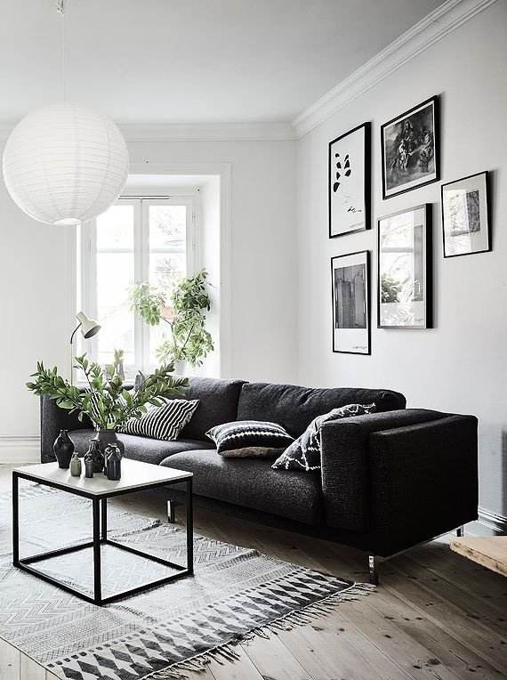White Living Room Decor Ideas Lovely Living Room In Black White and Gray with Nice Gallery