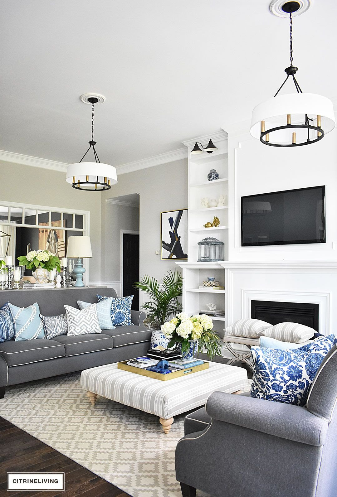 White Living Room Decor Ideas New 20 Fresh Ideas for Decorating with Blue and White