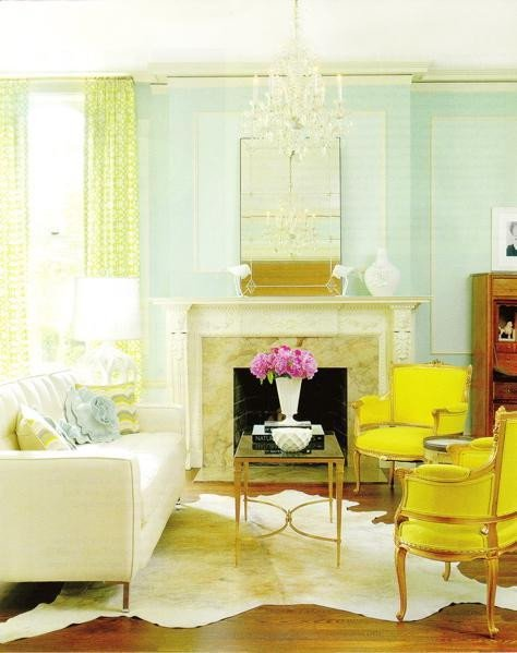 Yellow Decor for Living Room Awesome A Fresh Take On Yellow and Blue Decorating the Decorologist