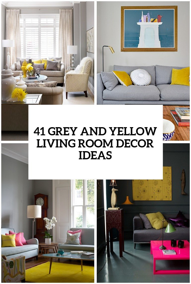 Yellow Decor for Living Room Inspirational 29 Stylish Grey and Yellow Living Room Décor Ideas Digsdigs