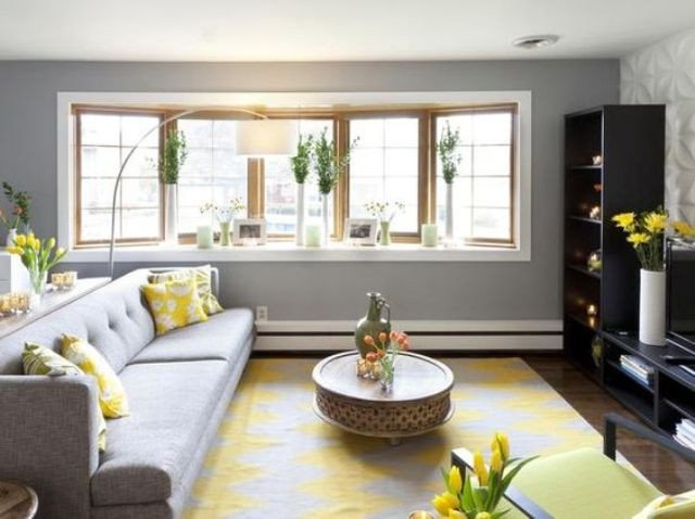 Yellow Decor for Living Room Lovely 29 Stylish Grey and Yellow Living Room Décor Ideas Digsdigs